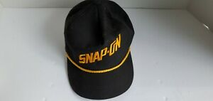 Vintage Snap on Tools Embroidered Cap Snap Back Usa Black Gold Free Shipping