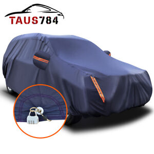 17ft Full Car Cover Universal Suv Fits Peva Waterproof Auto Protection With Lock Fits Bmw