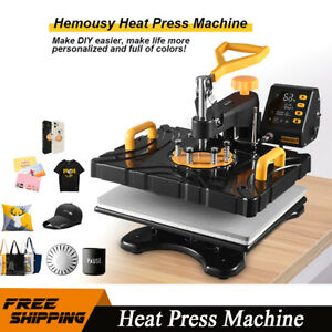 8in1 Heat Press Machine 12 x15 Sublimation Transfer Printing T shirt Mug Plate