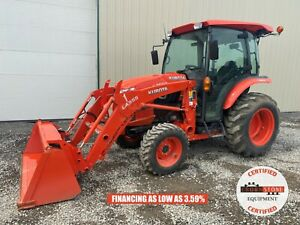 2017 Kubota L3560 Tractor W Loader Cab 4x4 540 Pto 174 Hours 6 Speed Hydro