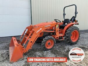 2016 Kubota L3301 Tractor W Loader 2 Post Rops 4x4 540 Pto 295 Hours 33 Hp
