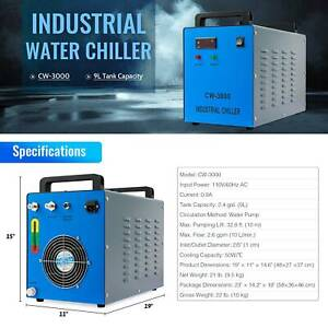 Omtetch Water Chiller Cw 3000 For 50 100w Co2 Laser Tubes Lab Equipment