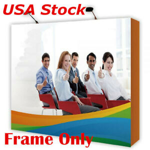 8ft Tension Fabric Pop Up Display Backdrop Stand Trade Show Exhibition Booth