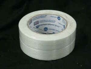 Lot Of 2 Rolls 1 X 60 Yds 4 Mil Filament Reinforced Strapping Tape Usa