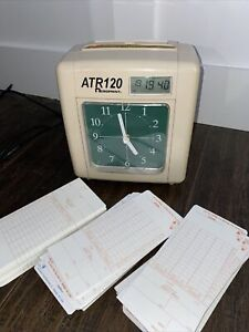 Acroprint Atr120 Electronic Top loading Time Recorder Time Clock Cards