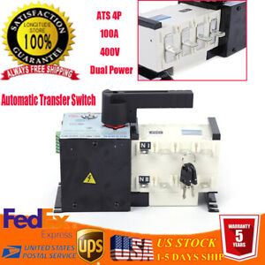 4p 100a Automatic Transfer Switch For Generator Changeover Switch Dual Power400v