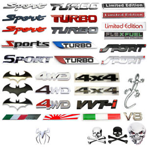 Sport 3d Limited Edition Style Emblem Animal Flag Badge Car Sticker Accessories