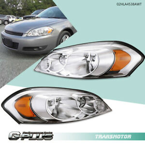 Fit For Chevy 06 13 Impala 06 07 Monte Carlo Chrome Amber Corner Headlights Pair