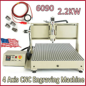 2200w Usb Cnc Router 4 Axis 6090 Engraver Milling Machine Vfd Metal Cutter used