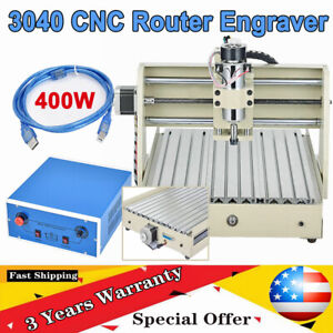 400w Usb 3 Axis 3040 Cnc Router Engraver 3d Cutter Woodworking Engraving Machine