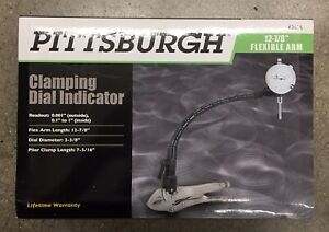 Pittsburgh Clamping Dial Indicator Gauge Test Rotors Auto Tool For Machine Shops