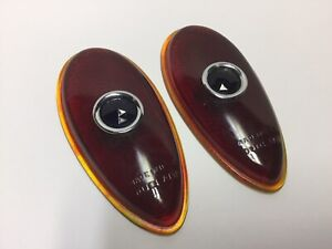 Vintage Stimsonite Duolamp Taillight Lens Blue Red Ford Usa