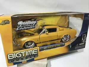 Jada Big Time Muscle 1967 Shelby Gt 500kr 1 24 Yellow Rare Version