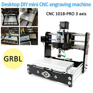 Mini Cnc 1018 Router Kit Usb 3 Axis Milling Cutter Machine Wood Router Engraver
