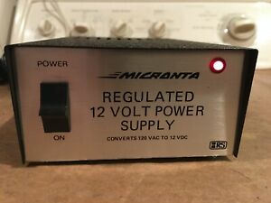 Vintage Micronta Regulated 12 Volt Power Supply Cat No 22 124a Used