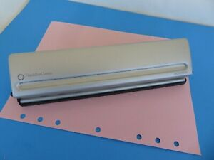Monarch 7 Hole Punch Franklin Covey Planner Silver Metal Paper Punch 8 5x11