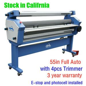 Usa 1400mm Full auto Wide Format Cold Laminator Laminating Machine With Trimmer