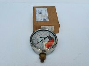 Enerpac Gf 813p Hydraulic Force And Pressure Gauge 10000 Psi Tons 1 4 Npt
