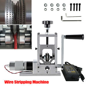Small Electric Wire Stripping Machine Portable Cable Stripper Metal Recycle Tool