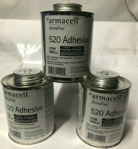 3 Cans Armaflex 520 Adhesive Industrial Professional Use Only 1 Pint