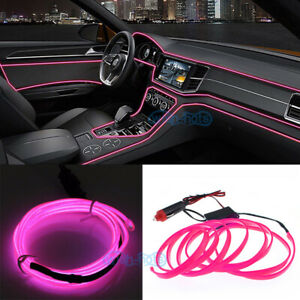 2m Pink Flexible El Wire Neon Led Light Strip For Car Jeep Pickup Truck Rv Suv