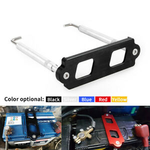 Black Battery Tie Down Kit Hold Down Rod With Tray Hooks Fit Honda Civic Integra