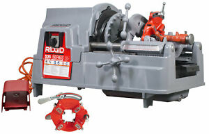 Reconditioned Ridgid 535 V3 Pipe Threading Machine With 811a Extra Head Dies