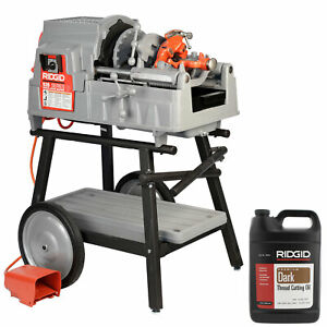 Reconditioned Ridgid 535 V3 Pipe Threader With 811a Extra Head Dies Cart Oil
