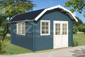 Log Cabin Tiny Home Shed 160 Sq Ft 14 5 X 17 5 X 1 5 8 Inch Prefabricated Kit