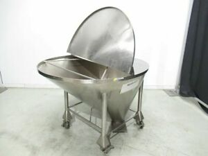 Tank Hopper Container Stainless Steel Tank Type Cone Shape Diam tre 59 In W