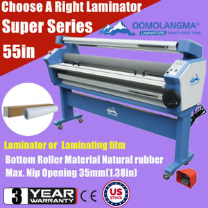Usa 55in Heat Assisted Full auto Wide Cold Roll Laminator Or 54 Laminating Film