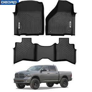 Oedro Floor Mats Liners Tpe All Weather Carpet For 13 18 Dodge Ram 1500 Quad Cab