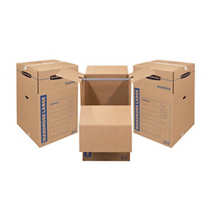 Bankers Box Smoothmove Wardrobe Moving Boxes Tall 24 X 24 X 40 Inches 3 Pack