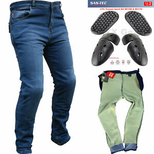 RTX Blue Motorcycle Biker JEANS SAS TEC CE Level 2 Armour amp; Made with Kevlar GBP 109.99