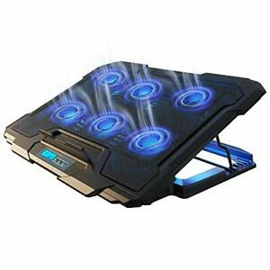 Ivso Laptop Cooling Pad Laptop Cooler Pad 6 Quiet Led Fans Dual Usb Powered G