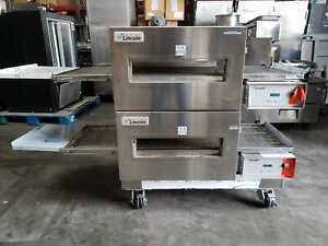 New Lincoln Impinger 1132 Double Electric Conveyor Pizza Oven 208 Volt 3 Ph