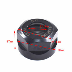 Er16 A Type Collet Clamping Nut For Cnc Milling Chuck Holder Black