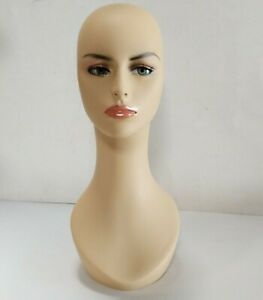 Less Than Perfect 318 g Female Mannequin Head Display Form With Pierced Ears