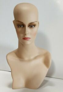 Less Than Perfect 411 h Female Display Mannequin Head Form With Stylish Neck
