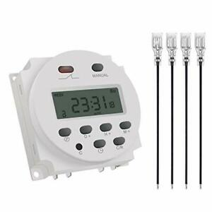 Cn101a 12v Timer Switch 7 Days Weekly Programmable Digital Time Relay Dc ac P