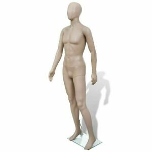 Adult Male Full Size Man Round Head Store Mannequin W Stand Display Dress Forms