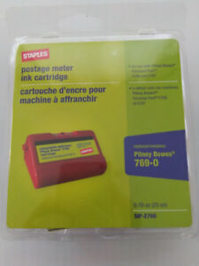 Lot Of 5 Red Sip e700 Replacement Postage Meter Ink Cartridge Pitney Bowes 769 0