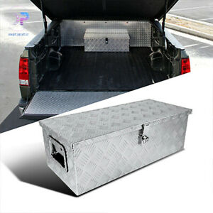 30 In Aluminum Underbody Storage Tool Box With Lock For Pickup Truck Trailer