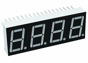 Red 0 56 4 Digit Seven 7 Segment Display Common Anode Led