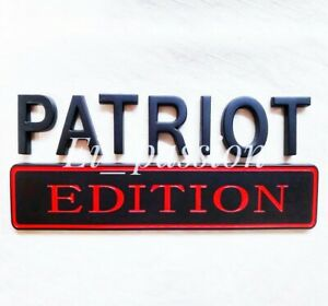 Patriot Edition Black And Red Fit All Cars Custom Emblem Letters High Quality Fits 1950 Ford