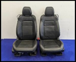 2015 2017 Ford Mustang Gt Ecoboost Front Seat Set Leather Hot Rod No Bags Seats