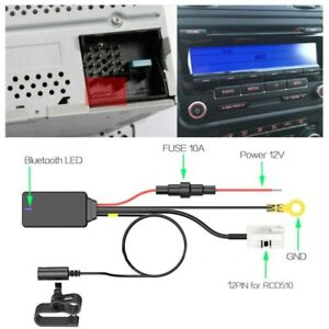 Car Aux In Bluetooth 5 0 Adapter Receiver Adapter Parts 12pin For Mfd Rns810 Rcd