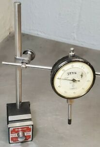 Starrett No 657aa Magnetic Base With A Scherr Tumico 1 Dial Indicator