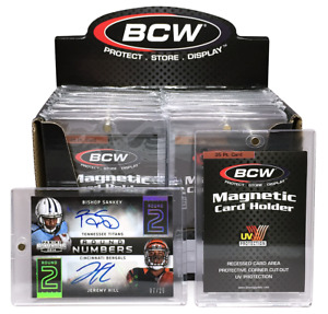 20 Bcw Brand 35pt Magnetic One Touch Card Holders 35 Pt 1 Box 35 Point