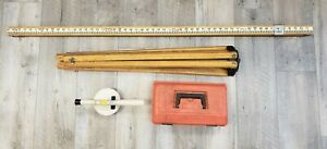 David White Lp6 20 Level Sight W Tripod And Level Ruler Pre owned Free Shipping